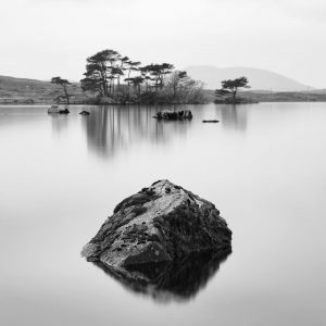 minimalist rock lake connemara