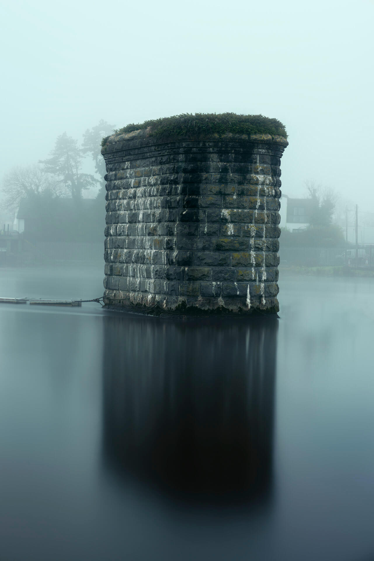 corrib viaduct in fog